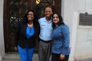 Ms. Esssence, Eric Adams, Mona Jhaveri Close up